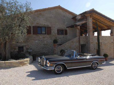 Old Vintage Cabrio Mercedes