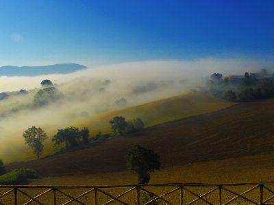 Morning view from La Corte del Gusto